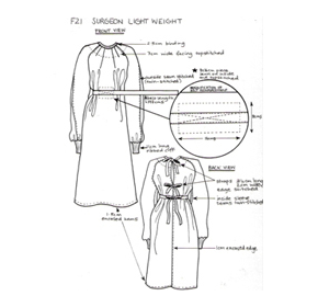 General Practice Gown | F21 Orthopaedic Gown (Belted)