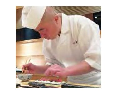 Fresh ingredients are the most essential element in guaranteeing food is made fresh. With this in mind, the chef formulates the sushi to be place on the plate.