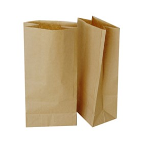 Brown Flat Bottom Paper Carry Bags