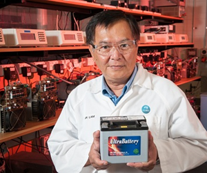 The UltraBattery combines the traditional lead acid battery and a supercapacitor into one.