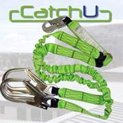 CatchU Magna Fall Arrest Twin Tail Elasticated Webbing Lanyard