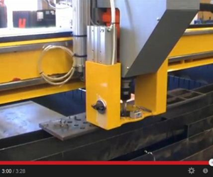 CNC plasma cutting machine drilling