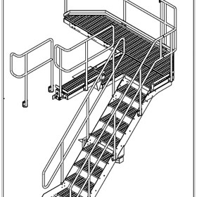 Fixed Stair Assembly