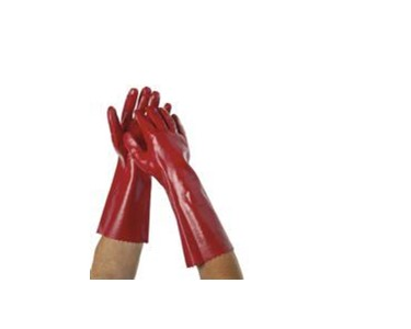 PVC dipped red gloves