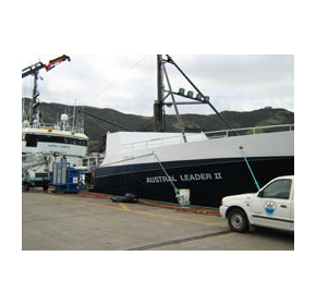 Hypsecs service team work on fishing vessel