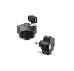 Security Lobe Knob with Lockable Key | Elesa+Ganter VLSK