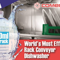 Rack Conveyor Dishwasher | World's Most Efficient | Comenda