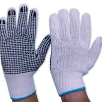 Mens Knitted Poly/Cotton Gloves | 342KPDB