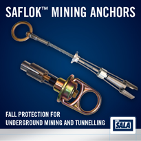 "Saflokâ""¢ Fall Protection Mining Anchors"