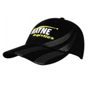 Brushed Heavy Cotton Cap with PVC Tyre Track  | 4015_HDW