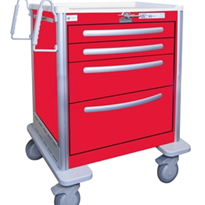 Waterloo Aluminium Crash Cart | USRLA-3369-RED
