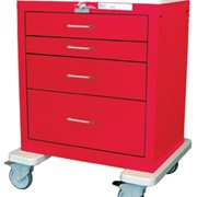 Resuscitation Emergency Trolley - Steel | Waterloo USRLU-3369-RED