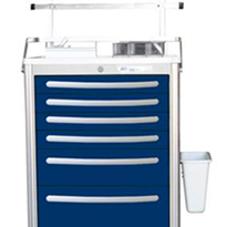 Waterloo Lightweight Aluminium Anaesthetic Cart | UTGKA-333369-DKB
