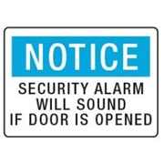 Notice - Security Alarm Sign | STS 010
