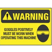Warning - Wear Goggles Sign | WNG 011