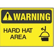 Warning - Hard Hat Sign | WNG 012
