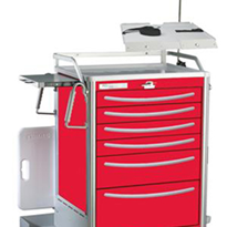 Waterloo Lightweight Aluminium Crash Cart | UTRLA-333369-RED