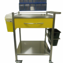 Coloured IV Cannulation Cart - SS725C