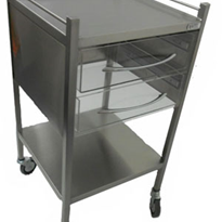 Perspex Trolley - 2 Drawer - SS11VP2