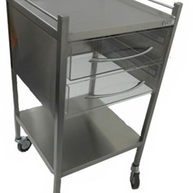 Perspex Multipurpose Trolley - 2 Drawer - SS11VP2