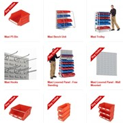 Hanging, Stackable and Shelf Bins | R.J. Cox Engineering