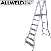 Heavy Duty 200kg Rating Folding Platform Ladder | Allweld