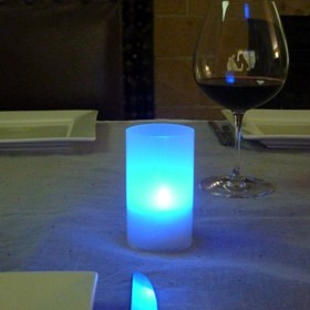 Acrylic Opaque Mini Candle Lamp | with Multi Colour LED