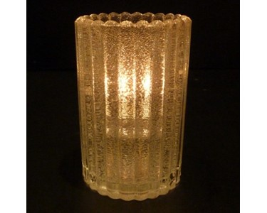 "Mini Cylinder Candle Lamp | ""Clear Jewel"""
