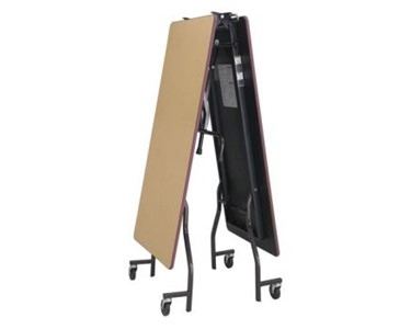 LB Mobile Folding Table folds up for compact storage
