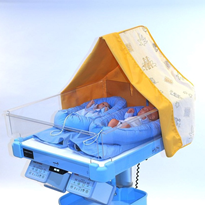 Cot-nursing using a heated water-filled mattress and incubator care