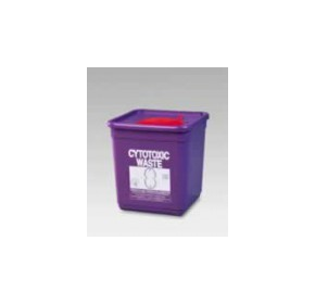 4.75 Litre Cytotoxic Square Container | RE4LCT