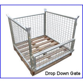 Pallet Cage Complete with Hardwood Pallet | R.J. Cox Engineering