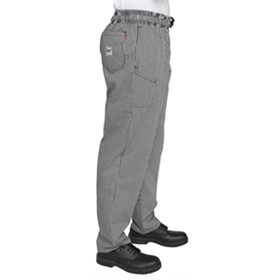 Professional Black Check Trousers | Le Chef | B406-XXL