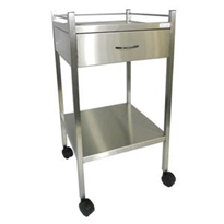 Dressing Trolley 500x500x900 Stainless Steel Single Drawer