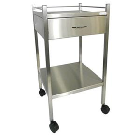 Stainless Steel Single Drawer Instrument Trolley | TROSST01