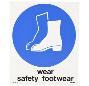 Plastic Sign | Wear Safety Footwear