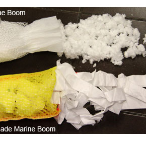 Imported absorbent booms fail quality, effectiveness & environmentally