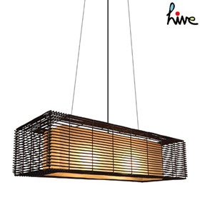 Kai Rectangular Hanging Lamp Outdoor