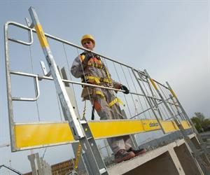 The Edge protection system XP from Doka is a universal safety solution for all edge protection needs.