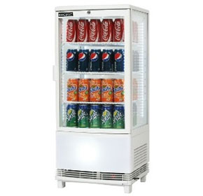 80L Curved Glass Countertop Beverage Chiller | CT0080G4WC