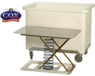 Mobile Polycon Tub with Rising Base Back Saver Insert