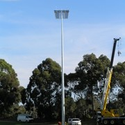 Glare shields reduce light spill at sporting reserve