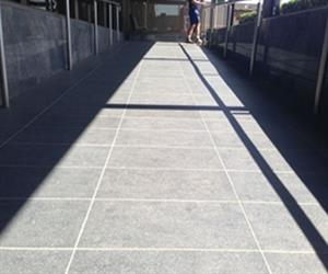 RSL CLub tiled ramp before