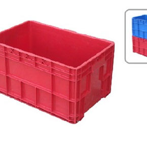 Solid Stackable Ribbed Crate | SSTRB2553