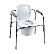 All-In-One Aluminium Commode
