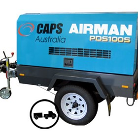 Trailer Mounted Diesel Air Compressors | Airman PDS100S-6B4T