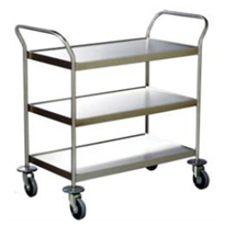 High-Quality Stainless Steel 3 Deck Clearing Trolley | GM9014