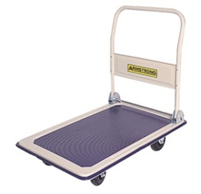 Folding Handle Flat Bed Platform Trolleys | Armstrong