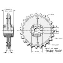 23 Tooth Drive Sprockets | Hitachi | HMAX 7205
