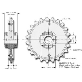 23 Tooth Drive Sprockets | HMAX 7205